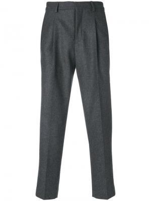 Классические брюки Harmony Paris. Цвет: серый