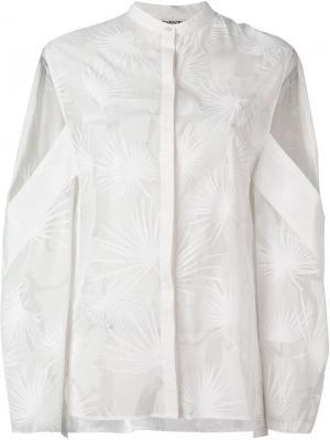 Рубашка Dancing Palms с вырезными деталями Chalayan. Цвет: белый