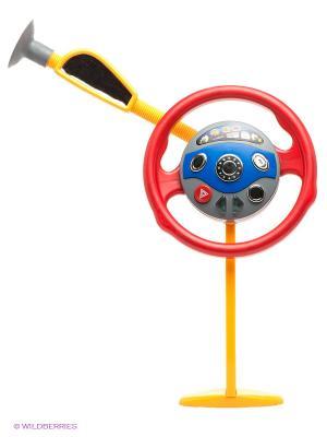 Игрушка Руль 1Toy. Цвет: серый, красный, синий