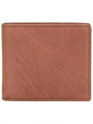 Складной бумажник Boudin Officine Creative. Цвет: телесный