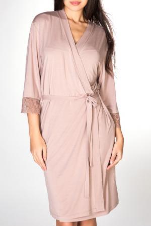 Халат Rose&Petal Homewear. Цвет: розовое дерево