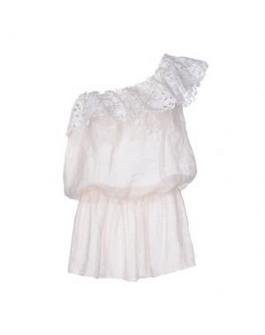 Короткое платье EMAMŌ. Цвет: слоновая кость