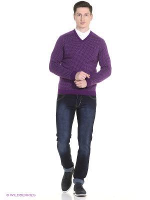 Пуловер United Colors of Benetton. Цвет: темно-фиолетовый