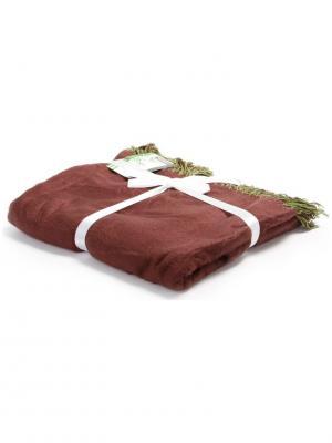 Плед 130*150+10см bamboo bt-br-grn Cite Marilou. Цвет: зеленый, коричневый