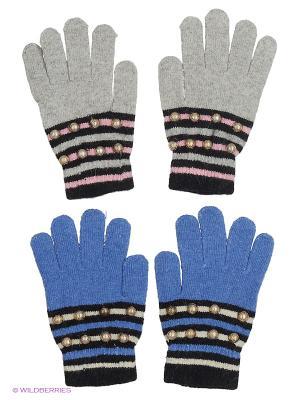 Перчатки FOMAS. Цвет: голубой, черный, серый
