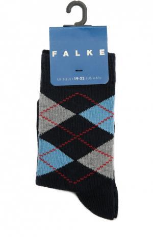 Носки с рисунком Falke. Цвет: синий