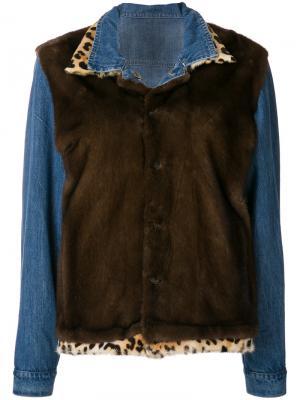 Куртка Jeans Celeste Simonetta Ravizza. Цвет: синий