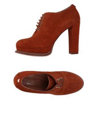 Обувь на шнурках TWIN-SET Simona Barbieri. Цвет: коричневый