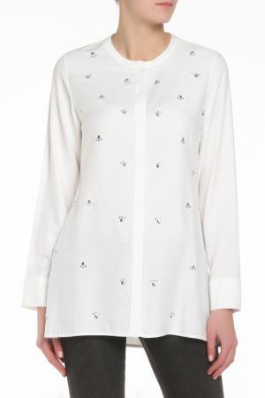 Блузка ZERO. Цвет: белый
