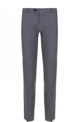 Хлопковые брюки свободного кроя Berwich. Цвет: синий