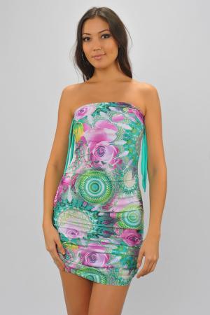 Платье Nicole Olivier. Цвет: зеленый