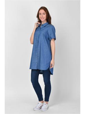 Рубашка Maria Velada. Цвет: синий