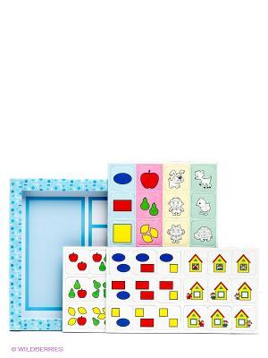 Игровой набор Магнитные пифагорики Десятое королевство. Цвет: голубой, белый