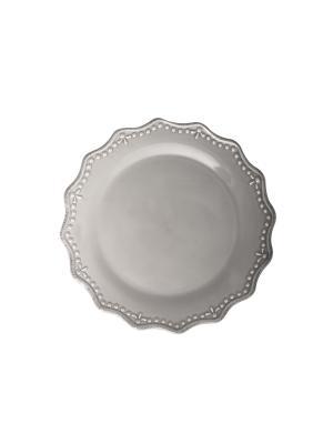Тарелка плоская CROWNE H&H. Цвет: серый