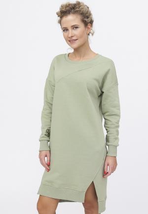Платье TzeTze. Цвет: хаки