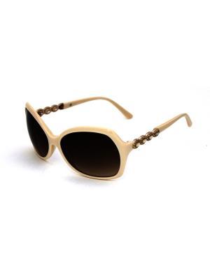Cолнцезащитные очки Exenza. Цвет: бежевый, коричневый
