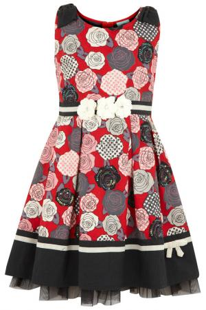 Платье Uttam kids. Цвет: мультицвет
