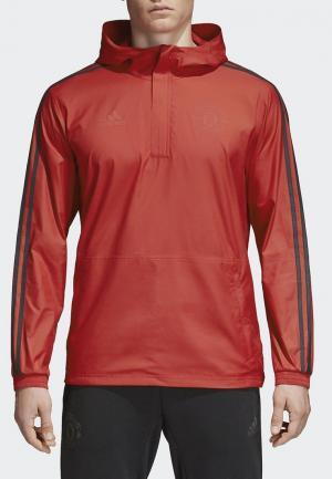 Ветровка adidas. Цвет: красный