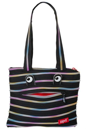 Сумка Monster Tote/Beach Bag ZIPIT. Цвет: черный