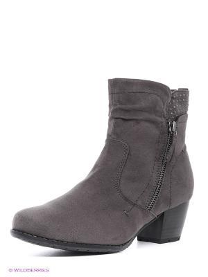 Ботинки Jana. Цвет: серый