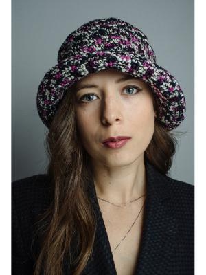 Шляпа Итальянская мозаика ТТ. Цвет: черный, белый, малиновый