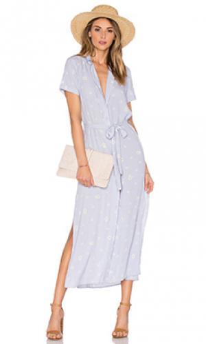Платье-рубашка the maxi LAcademie L'Academie. Цвет: фиолетовый