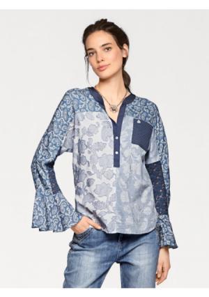 Блузка LINEA TESINI by Heine. Цвет: синий