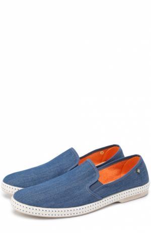 Эспадрильи из денима Rivieras Leisure Shoes. Цвет: светло-синий