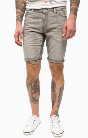Серые шорты из денима TOM TAILOR Denim. Цвет: серый