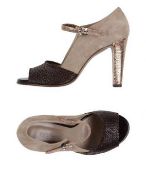 Туфли LENA MILOS. Цвет: темно-коричневый