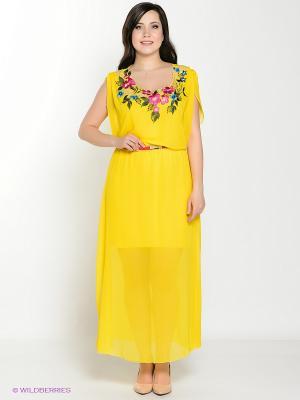 Платье Amelia Lux. Цвет: желтый