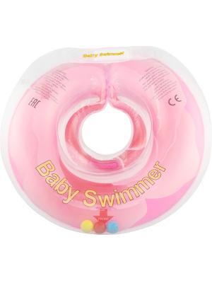 Круг розовый Baby Swimmer. Цвет: розовый