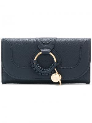 Удлиненный кошелек Hana See By Chloé. Цвет: синий