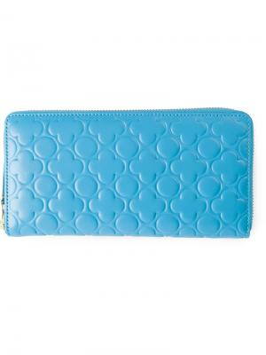 Кошелек с тиснением Comme Des Garçons Wallet. Цвет: синий