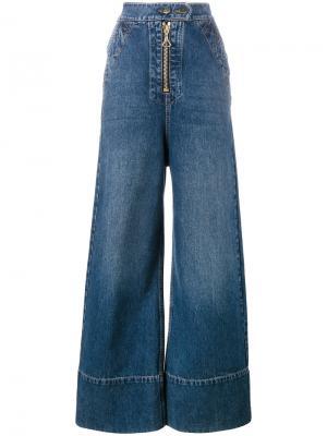 Широкие джинсы Ellery. Цвет: синий