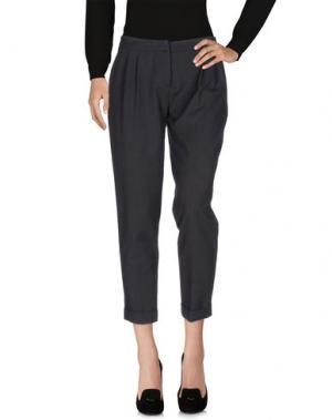 Повседневные брюки CARLA MONTANARINI. Цвет: свинцово-серый