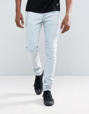 Cheap Monday Голубые джинсы скинни. Цвет: синий
