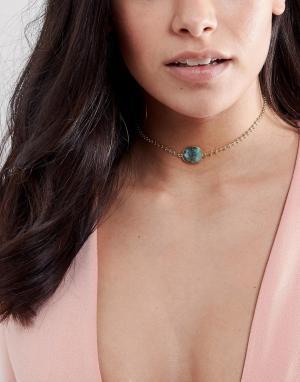 Rock 'N' Rose Ожерелье-чокер с полудрагоценным камнем N Corinna. Цвет: золотой