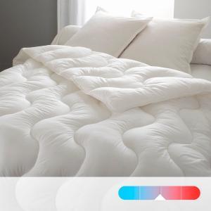 Одеяло синтетическое с чехлом из натурального материала, высокое качество REVERIE BEST. Цвет: белый