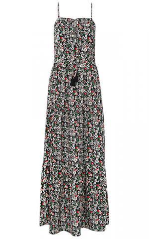 Платье макси с принтом La Reine Blanche