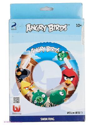 Надувной круг для плавания Angry Birds Bestway. Цвет: синий