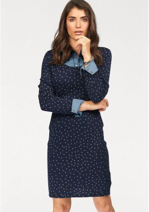 Платье BOYSENS BOYSEN'S. Цвет: темно-синий/серый
