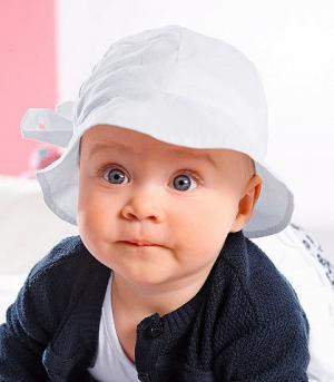 Маленькая летняя шляпа для девочек KLITZEKLEIN. Цвет: белый