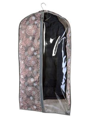 Чехол для шубы (для хранения) 60х160х10см  Серебро 929 COFRET. Цвет: серый, розовый