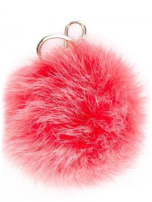 Брелок с помпоном Furla. Цвет: розовый и фиолетовый