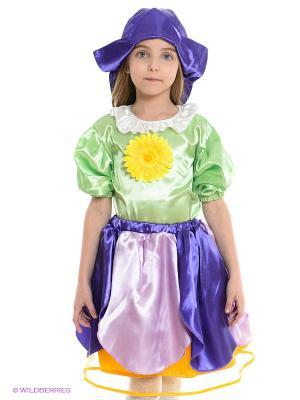 Карнавальный костюм Дюймовочка Волшебный мир. Цвет: светло-зеленый, фиолетовый, сиреневый