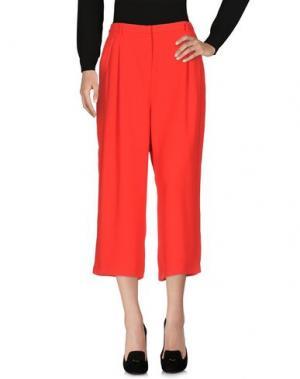 Повседневные брюки EMMA&GAIA. Цвет: красный