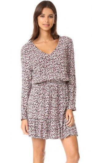 Платье Smith с оборками и мелкими маргаритками cupcakes and cashmere. Цвет: сорбет