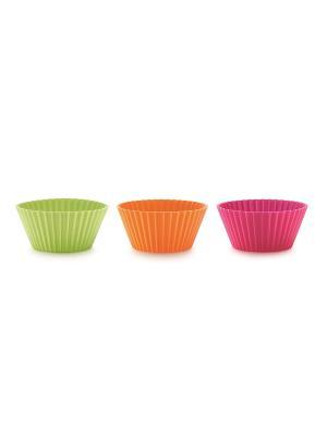 Форма силиконовая Маффин, разноцветные  (6 шт.) LEKUE. Цвет: красный, розовый, фиолетовый