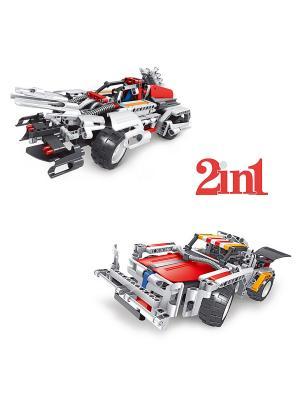 Конструктор электромеханический Shadowsaber 326 эл. (пульт, аккумулятор, зарядка в комплекте) QIHUI. Цвет: синий, красный, белый, серый
